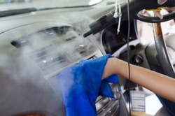 Service Clean the air of the car. Steam heat sterilization in air conditioning duct cleaning, disinfection of vehicles.