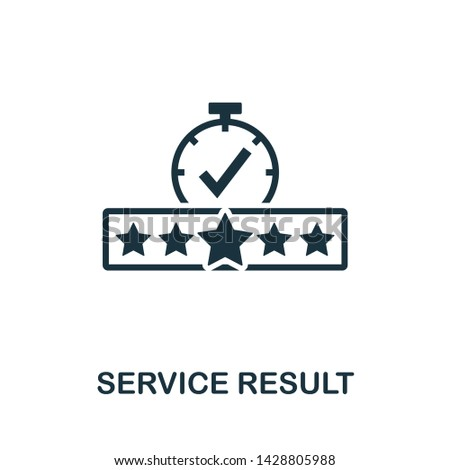 Service Result icon illustration. Creative sign from quality control icons collection. Filled flat Service Result icon for computer and mobile. Symbol, logo graphics.
