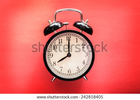 service time watch clock dial morning lesson lecture break waiting red background