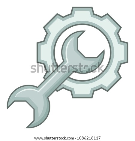 Service tool icon. Cartoon illustration of service tool icon for web