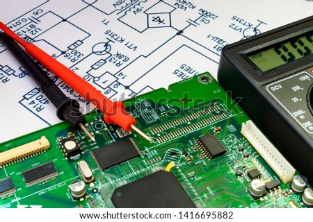 Services and repair of electronics, electronic boards. #1416695882