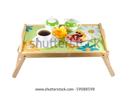 Serving a table in the bed