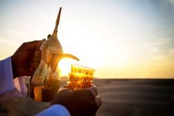 Serving Arabic Coffee in Ramadan