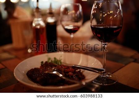 serving cutlery knife fork restaurant tablecloth #603988133