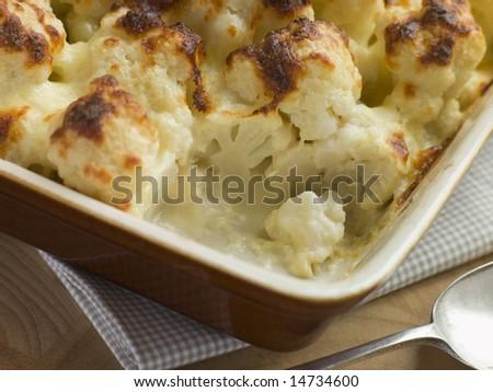 Serving of Cauliflower Cheese
