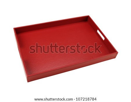serving tray isolated on white background
