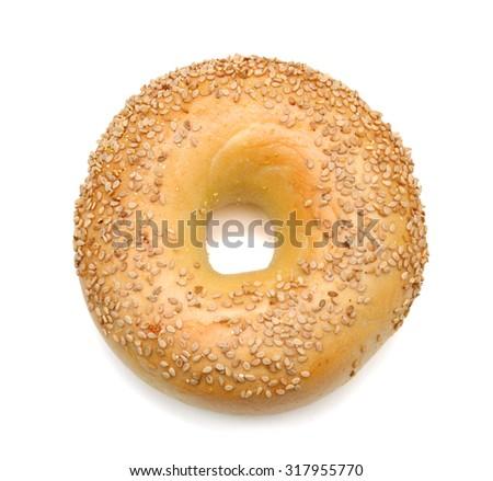 Shutterstock sesame bagel isolated on white