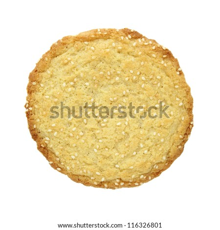 sesame cookies isolated on white