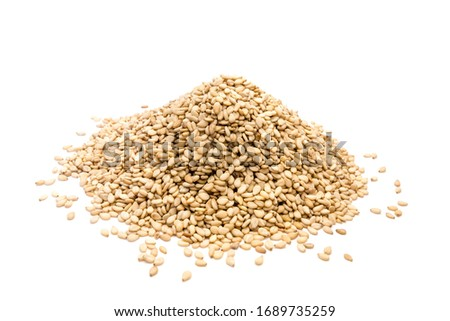 Sesame seeds isolated on white background Foto stock ©
