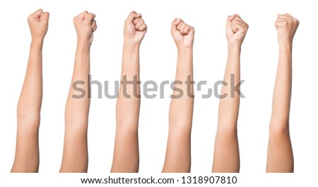 Set arm with blood veins on white background, health care and medical concept