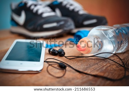 set for sports activities