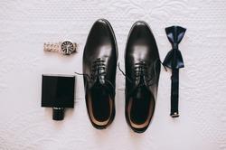Set groom Butterfly shoes Belts Cufflinks Watches Men's Accessories