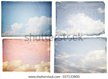 set grunge paper texture.  abstract nature background