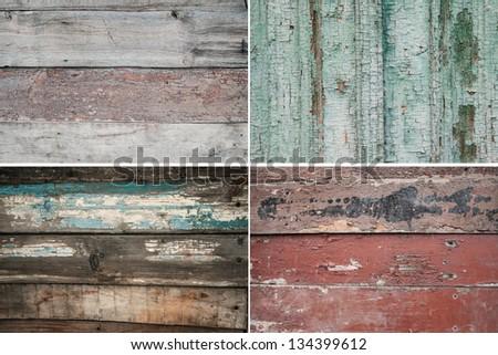 Set grunge wood texture