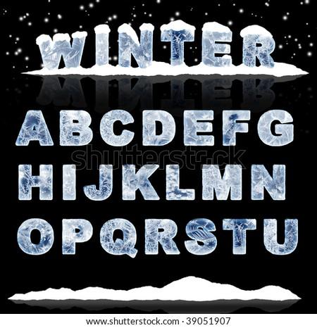 Set - ice letters. Part 1