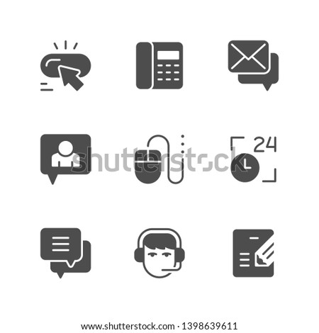 Set icons of contact us isolated on white