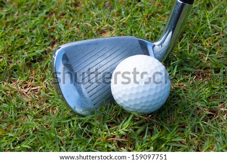 set iron drive in rough , play golf sport