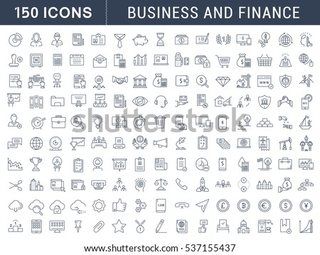 Set  line icons in flat design with elements for mobile concepts and web apps. Collection modern infographic logo and pictogram. Raster version.