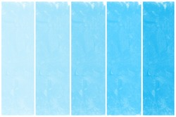 Set of abstract blue watercolor hand painted