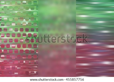 Set of abstractions picture. Three background multicolored. #455857756
