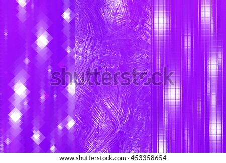 Set of abstractions picture. Three background violet. #453358654
