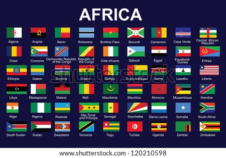 set of accurate flags of Africa