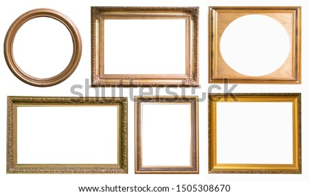 Set of antique picture frames isolated on white background #1505308670