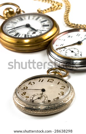 Set of Antique pocket watches.