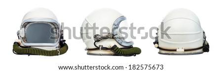 set of astronaut helmets...