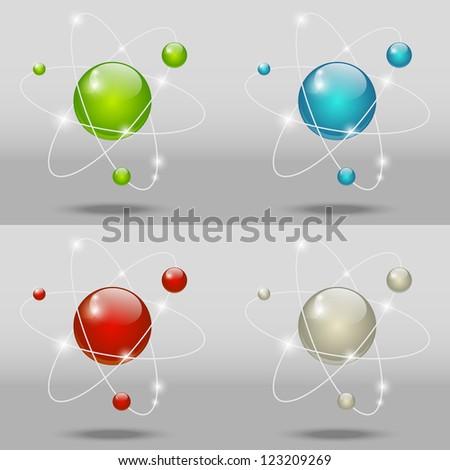 Set of atomic icons