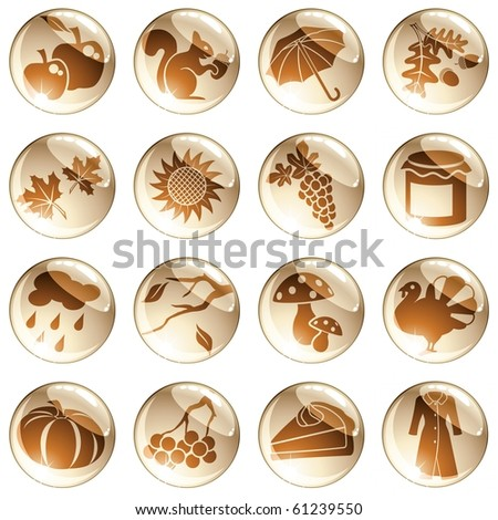 Set of autumn icons (jpg); vector version also available