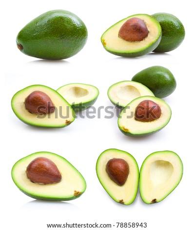 set of avocado images