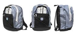Set of backpack isolated on white background