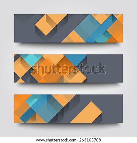 Set of banner templates with abstract background.  #263165708