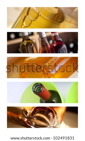 Set of banners on wine theme