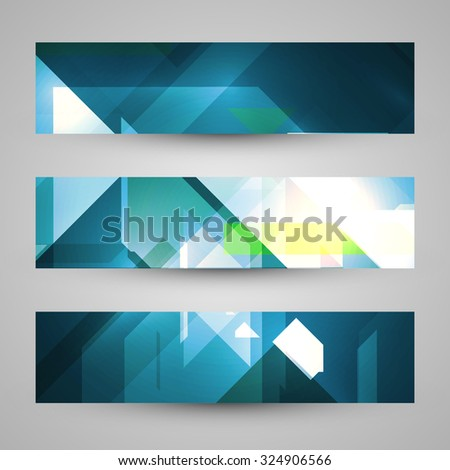 Set of banners, technology art illustration #324906566