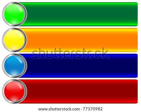 Set of banners with button. Similar image in vector format  in my portfolio. - stock photo