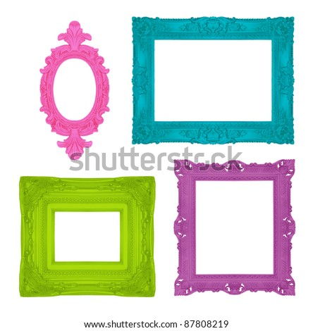 Set of beautiful ornamental frames, similar available in my portfolio