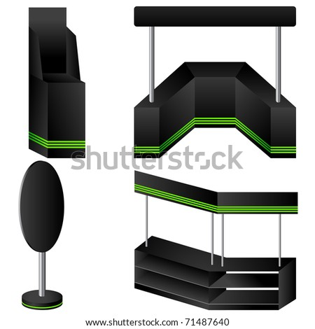 Set of 4 black display. Vector version available in my gallery.