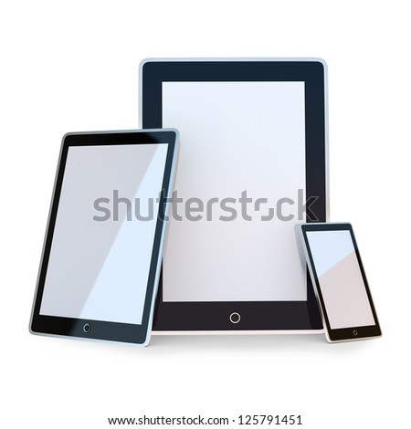 Set of black electronic device