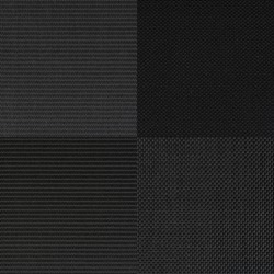 Set of black fabric samples, texture background.