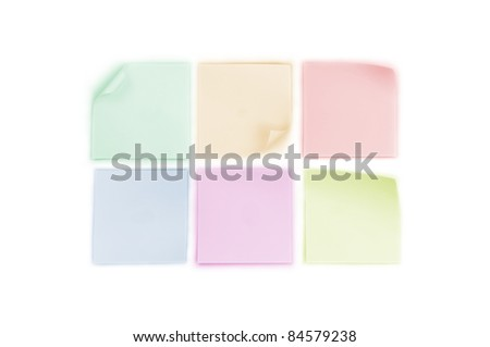 set of blank memo papers