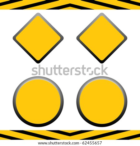 Set of blank under construction signs with copy space, isolated on white background. #62455657