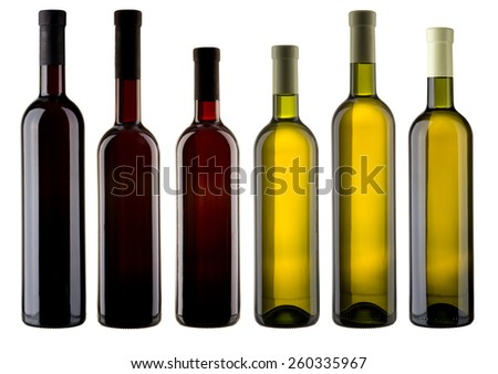 Set of blank wine bottles #260335967