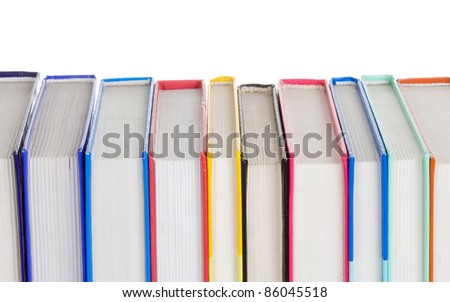 set of books isolated on white background