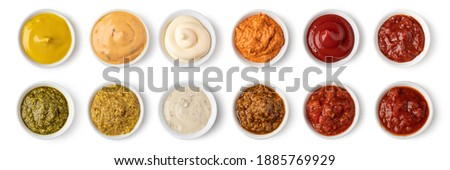 set of bowl with sauce isolated on white background Stock photo ©