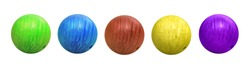 Set of bowling balls on white background
