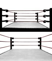 Set of boxing ring isolated on white background