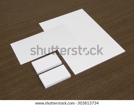 Set of branding corporate identity templates. Stationery with business cards.