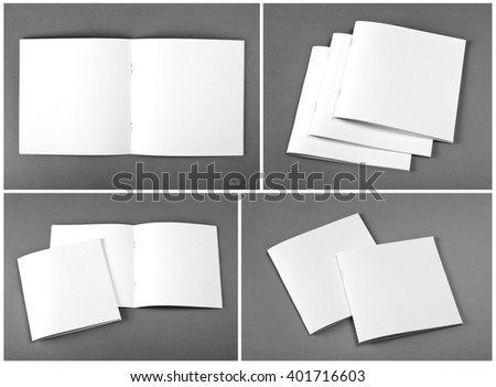 Set of brochures on gray background #401716603